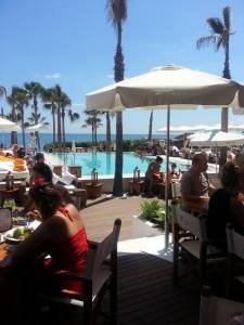 lunch at Nikki Beach